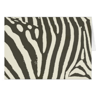 Soft Zebra Print Modern Contemporary Card