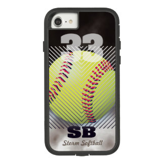 Softball #33 Black Case-Mate Tough Extreme iPhone 8/7 Case