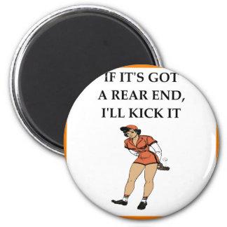 softball 6 cm round magnet