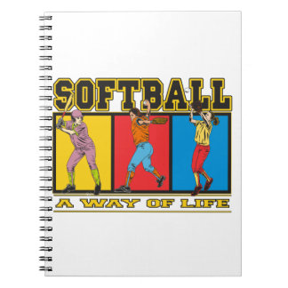 Softball A Way of Life Spiral Note Books