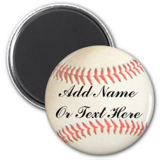 SOFTBALL ADD NAME OR TEXT HERE-MAGNET 6 CM ROUND MAGNET