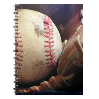 Softball and Glove Spiral Notebook
