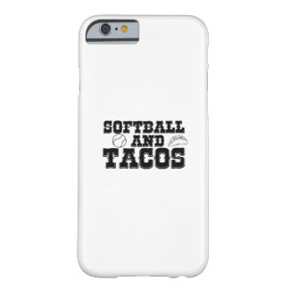 Softball and Tacos Funny Distressed Funny Barely There iPhone 6 Case