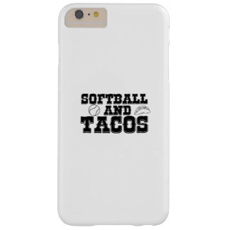 Softball and Tacos Funny Distressed Funny Barely There iPhone 6 Plus Case