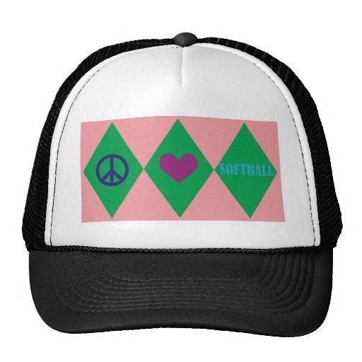 Softball Argyle Hats