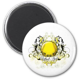 Softball Aunt Fridge Magnets