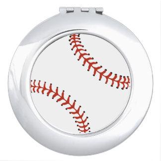 Softball Baseball Design Compact Vanity Mirror