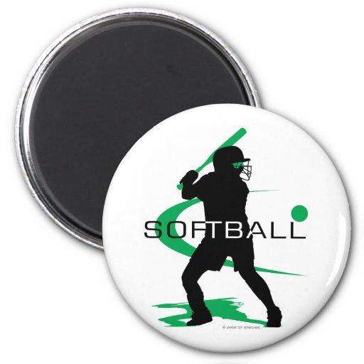 Softball - Batter Refrigerator Magnet