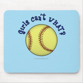 Softball-Blue Mouse Pad