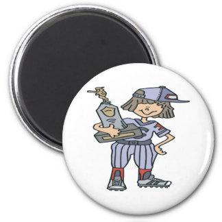 Softball Champion 6 Cm Round Magnet