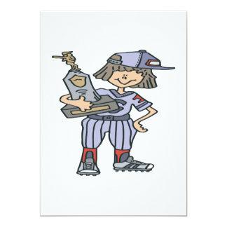 "Softball Champion 5"" X 7"" Invitation Card"