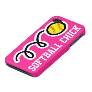 Softball chick iPhone case | Pink phone cover