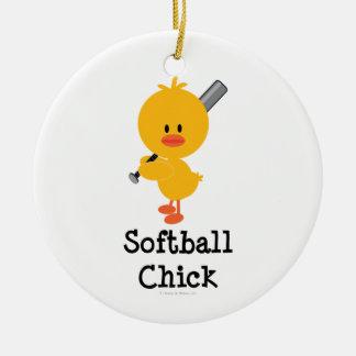 Softball Chick Ornament