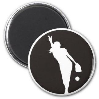 softball Circle Pitcher 6 Cm Round Magnet