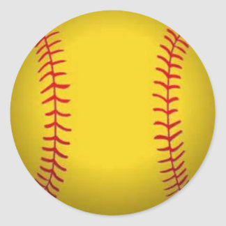 Softball Classic Round Sticker