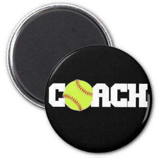Softball Coach 6 Cm Round Magnet