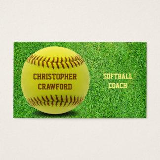 Softball Coach Ball Business Card