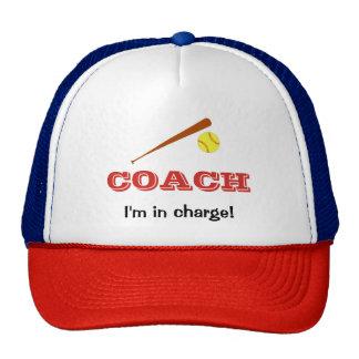 Softball coach custom name fun sports cap