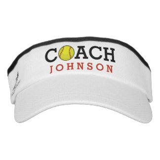 Softball Coach Custom Name Visor
