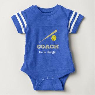 Softball coach fun custom name sports baby bodysuit