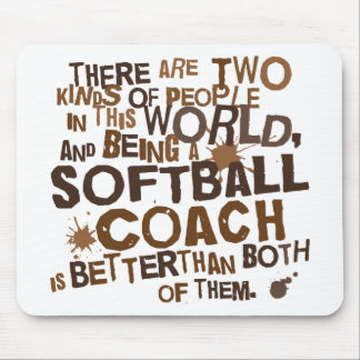Softball Coach Gift Mouse Pads