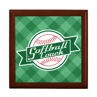 Softball Coach Keepsake Box