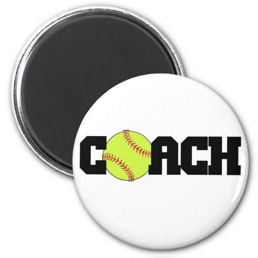 Softball Coach Fridge Magnets