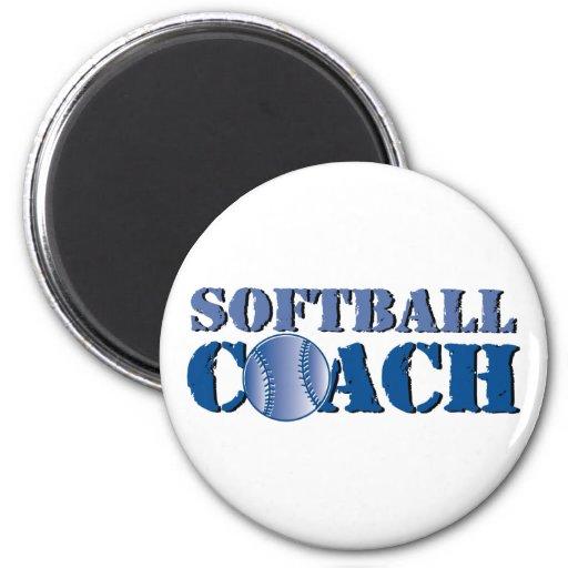 Softball Coach Refrigerator Magnet