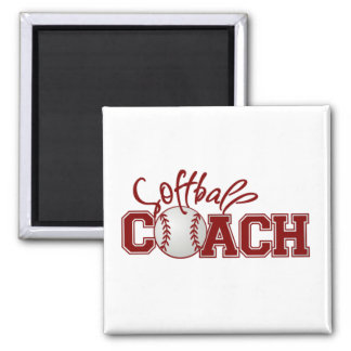 Softball COACH Square Magnet