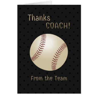 Softball Coach Thank You From the Team Greeting Card
