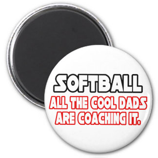 Softball...Cool Dads 6 Cm Round Magnet