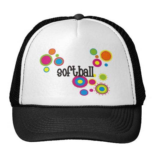 Softball Cool Polka Dots Hats