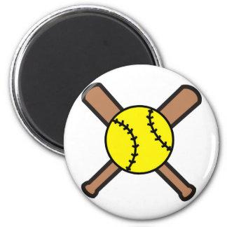 Softball Crossbats 6 Cm Round Magnet