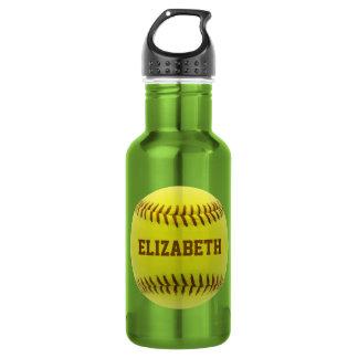 Softball Custom Ball Water Bottle