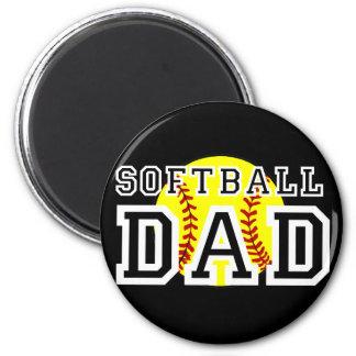 Softball Dad 6 Cm Round Magnet