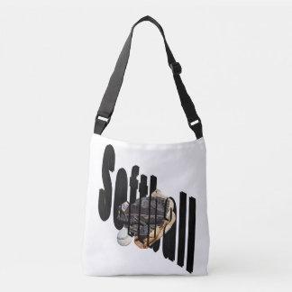 Softball Dimensional Logo Full Print Crossbody Bag