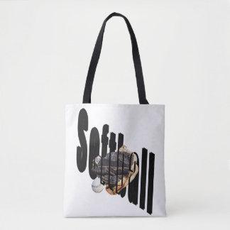 Softball Dimensional Logo Full Print Shopping Bag