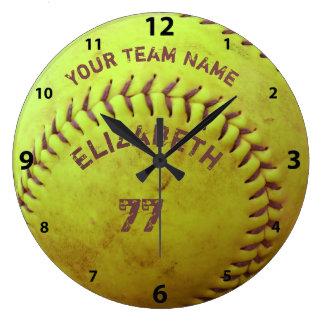 Softball Dirty Name Team Number Ball Clock