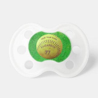 Softball Dirty Name Team Number Ball Pacifier