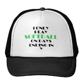 Softball Every Day Green Cap