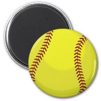 Softball Fan 6 Cm Round Magnet