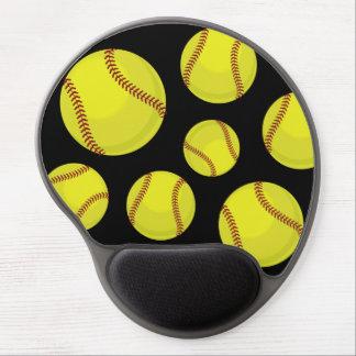 Softball Fan Gel Mouse Pad