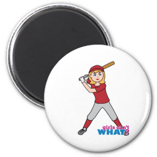 Softball Girl Refrigerator Magnet