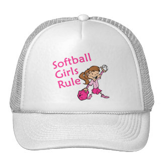 Softball Girls Rule Trucker Hats