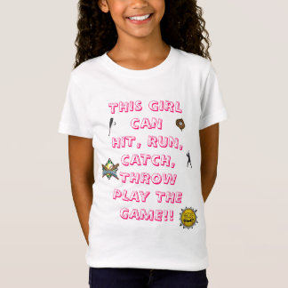 softball-girls, Softball.Softball Player Silhou... T-Shirt