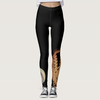 Softball Glove and Ball Leggings