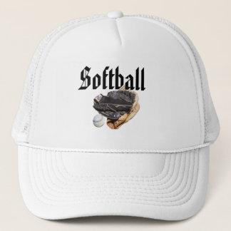 Softball Gloves And Logo, Trucker Hat