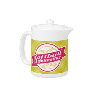 Softball Godmother Tea Pot