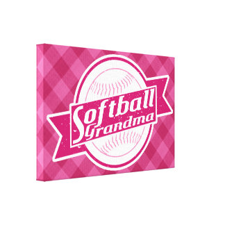 Softball Grandma Canvas Print
