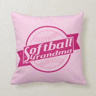 Softball Grandma Customizable Pillow Cushion
